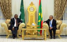 President Cyril Ramaphosa received by Mauritania Prime Minister Mr Yahya Ould Hademine. Picture: GCIS.