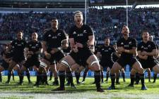 Kieran Reid of New Zealand leads the Haka prior to kickoff during the international match between Ireland and New Zealand at Soldier Field on 5 November 2016 in Chicago. Picture: Getty Images/AFP