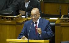 South African President Jacob Zuma during the State of the Nation Address in Cape Town, on 12 February 2015. Picture: EPA/Rodger Bosch/Pool.