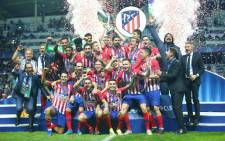 Atletico Madrid celebrates victory over Real Madrid in the UEFA Super Cup on 15 August 2018. Picture: @atletienglish/Twitter