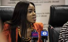 Pastor Timothy Omotoso rape trial witness Cheryl Zondi at the launch of her own foundation. Picture: Abigail Javier/EWN