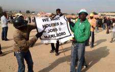 Marlboro residents demonstrate on 22 August 2012, after being evicted from their houses. Picture: Christa van der Walt/EWN.