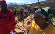 Elizabeth Pieterson who's a 'long-standing ANC voter' has abandoned the party for the EFF. Picture: Xolani Koyana/ EWN.