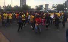 UJ Students at the Soweto campus are marching for the first time today. Picture: Thando Kubheka/EWN.