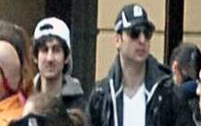 A screen grab image from CCTV footage released by the FBI of the Boston Marathon bombing suspects. Picture: FBI.gov