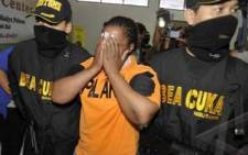 Nyolukana Nomakorinte Christabell was arrested in Indonesia for drug posession. Picture: Media Indonesia
