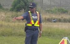 South African Police Service members conduct roadblocks during the festive season. Picture: @SAPoliceService/Twitter