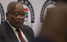 Former President Jacob Zuma at the state capture commission on 17 July 2019. Picture: Abigail Javier/EWN.