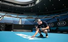FILE: Preparations for the 2021 Australian Open Grand Slam Tournament. Picture: @AustralianOpen/Twitter