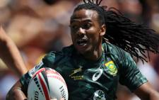 FILE: Blitzbok star Cecil Afrika has announced his retirement from international Sevens rugby after 12 years on the circuit. Picture: AFP
