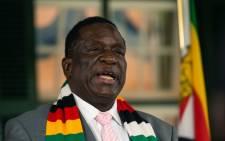 Zimbabwe President Emmerson Mnangagwa. Picture: AFP