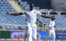 FILE: Jason Holder of West Indies celebrates the dismissal of Virat Kohli of India during day 1 of the 2nd Test between West Indies and India at Sabina Park, Kingston, Jamaica, on 30 August 2019. Picture: AFP