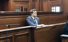 FILE: Family axe murder accused Henri van Breda appears in the Western Cape High Court on 9 October 2017. Picture: Monique Mortlock/EWN.