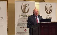 South Africa's last apartheid president FW De Klerk. Picture: Twitter/@FWdeKlerkFoun.