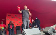 EFF leader Julius Malema showed no restraint while expressing his disdain for the ANC and DA when addressing supporters in Kraaifontein. on 23 October 2021. Picture: Lizell Persens