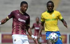 Peter Shalulile snatched all three points with a header in the 94th minute. Picture: Twitter @OfficialPSL.