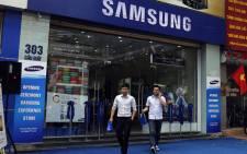 A Samsung shop in Hanoi, Vietnam. Picture: EPA.