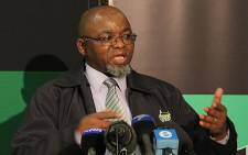 ANC Secretary General Gwede Mantashe answers questions from the media during a briefing on the outcomes of the ANC lekgotla. Picture: Taurai Maduna/EWN
