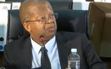 A screenshot of Free State Housing HOD Nthimotse Mokhesi at the state capture commission on Monday, 28 September 2020. Picture: SABCNews/Youtube