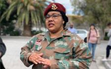 Major Fatima Isaacs. Picture: Twitter/@LRC_SouthAfrica