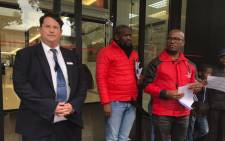 The South African Communist Party has held a picket at Absa's offices in Cape Town. Picture: Monique Mortlock/EWN