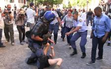 FILE: Fees Must Fall Portesters clash with police at Parliament. Picture: Anthony Molyneux/EWN.