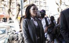 Norma Gigaba, wife of Former Finance Minister Malusi Gigaba at Pretoria Magistrates Court on 14 September 2020. Picture: Abigail Javier/EWN