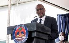 FILE: In this file photo Designated Prime Minister Ariel Henry speaks during a ceremony at La Primature in Port-au-Prince, Haiti, on July 20, 2021. Picture: Valerie Baeriswyl / AFP.