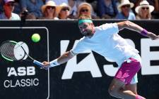 Tennys Sandgren of the United States hits a return during mens singles final match against Cameron Norrie of Great Britian at the ATP Auckland Classic tennis tournament in Auckland on 12 January 2019. Picture: AFP
