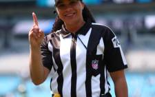 Maia Chaka becomes the first black woman among NFL game officials. Picture: @NFL/Twitter.