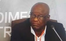 A screengrab of suspended Gauteng Health HOD Dr Barney Selebano at the Esidimeni hearing on 5 December 2017.