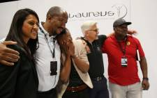 Tears flowed as two-time boxing world champion Zolani Tete received a new Mercedes-Benz C43 AMG. Picture: Bertram Malgas/EWN