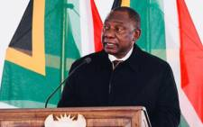 President Cyril Ramaphosa delivered Lesiba Maphoto's eulogy at the special official funeral of the stalwart on 21 July 2019. Picture: Presidency