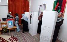 Libyan women voting in Tripoli on 7 July 2012. AFP