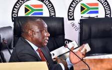 President Cyril Ramaphosa appears at the state capture inquiry on 12 August 2021. Picture: GCIS