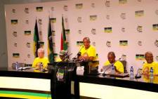 The ANC's economic transformation committee held a media briefing at Luthuli House on 24 February 2019. Picture: @MYANC/Twitter