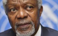 FILE: In this file photo taken on 30 June 2012 former UN Secretary-General Kofi Annan looks on during a press conference at the United Nations office, in Geneva. Picture: AFP.