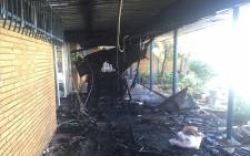 FILE: Residents' office at the Vaal University of Technology was set alight on 11 May 2016 evening during protest by angry students. Picture: Kgothatso Mogale/EWN.