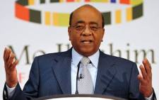 Sudan-born telecoms tycoon Mo Ibrahim. Picture: AFP.