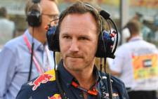 Infiniti Red Bull Racing's team chief Christian Horner looks on ahead of the start of the Abu Dhabi Formula One Grand Prix at the Yas Marina circuit on November 27, 2016. Picture: AFP.