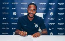 England winger Raheem Sterling. Picture: @ManCity/Twitter.