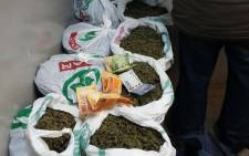 A man was arrested for being in possession 12 bags of dagga worth R160,000 Kimberley. Picture: Saps.
