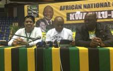 ANC provincial coordinator Sihle Zikalala addressing the media. Picture: Ziyanda Ngcobo/EWN.