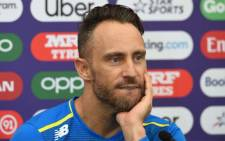 Proteas captain Faf du Plessis attends a press conference at the Hampshire Cricket indoor centre in Southampton, southern England, on June 4, 2019 ahead of their 2019 Cricket World Cup match against India. Picture: AFP