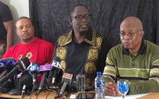 Former Cosatu General Secretary Zwelinzima Vavi speaks during a press conference following his dismissal on Tuesday. Picture: Vumani Mkhize/EWN.