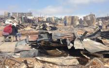 FILE PIC: A fire ripped through the Kayamandi informal settlement near Stellenbosch on 15 March 2013, destroying about 1, 600 shacks. Picture: Aletta Gardner/EWN