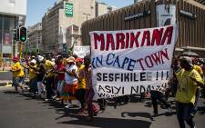 Ses'khona march vows to bring more supporters and cause chaos in the CBD if their demands aren't met. Picture: Anthony Molyneaux/EWN.