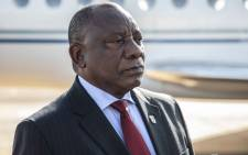 FILE: President Cyril Ramaphosa arrives at the Waterkloof Air Force Base in Pretoria on 5 March 2020 to address the media about the first case of the coronavirus in South Africa. Picture: Abigail Javier/EWN