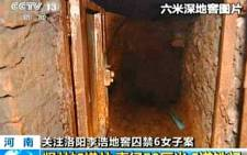 Part of the dungeon in which executed Chinese man Li Hao kept six women as sex slaves. Picture: CCTV.