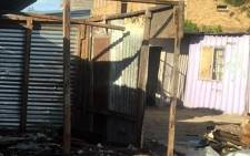 FILE: The remains of a shack fire seen at Masiya informal settlement on 3 June 2018. Picture: Supplied.